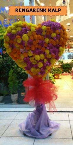 Ankara mevsim çiçeklerinden kalp perförje  Bilecik çiçekçi çiçekçi telefonları