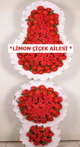 3 katlı kırmızı düğün açılış çiçeği  Bilecik çiçekçi çiçek gönderme