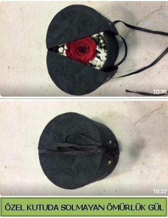 Solmayan ömürlük gül şoklanmış gül  Bilecik çiçekçi çiçek gönderme