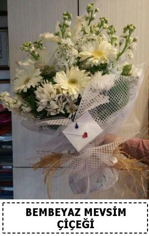 Bembeyaz görsel mevsim çiçek buketi  Bilecik çiçekçi çiçek yolla