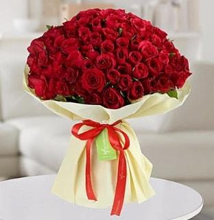 101 adet kırmızı gül buketi koca demet  Bilecik çiçekçi internetten çiçek siparişi