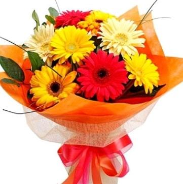 9 adet karışık gerbera buketi  Bilecik çiçekçi çiçek , çiçekçi , çiçekçilik