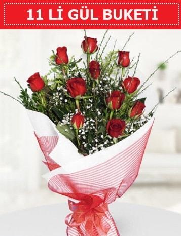 11 adet kırmızı gül buketi Aşk budur  Bilecik çiçekçi çiçek gönderme sitemiz güvenlidir
