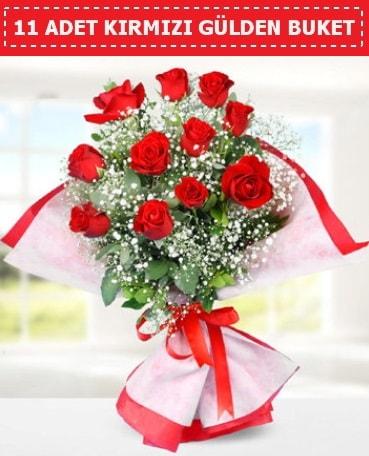 11 Adet Kırmızı Gül Buketi  Bilecik çiçekçi internetten çiçek siparişi