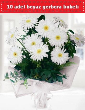 10 Adet beyaz gerbera buketi  Bilecik çiçekçi çiçek , çiçekçi , çiçekçilik
