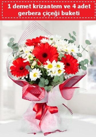 Krizantem ve Gerbera Buketi  Bilecik çiçekçi çiçek siparişi sitesi