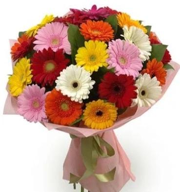Karışık büyük boy gerbera çiçek buketi  Bilecik çiçekçi çiçek satışı